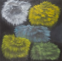 untitled (yellow/green) by ross bleckner