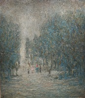 road through a wood by laurence stephen lowry