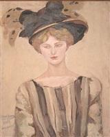 femme au chapeau by jacqueline marval