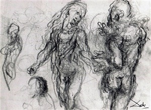 study of characters (etude de personnages) by salvador dalí