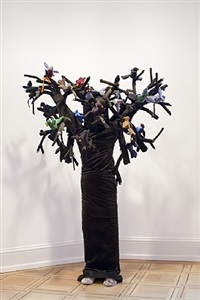 tree girl with birds by laura ford