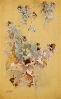 study of thistles by georges jules victor clairin
