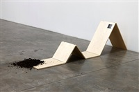 one foot in the grave (reclining) by tom burr