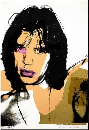 mick jagger (f.s. ii.141) by andy warhol