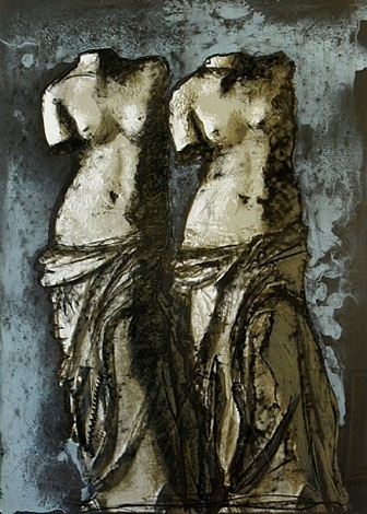 double venus in the sky at night by jim dine
