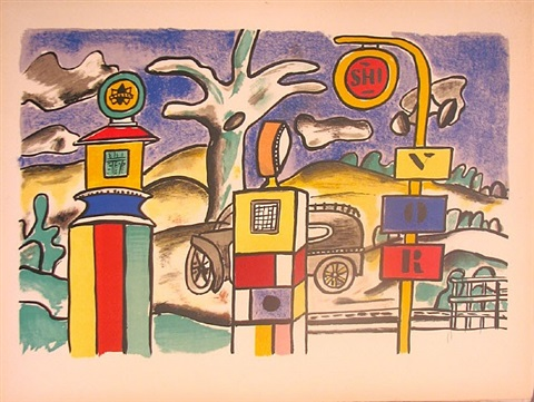 """from the séries """"la ville"""" by fernand léger"""
