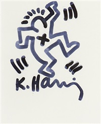 dancing man by keith haring