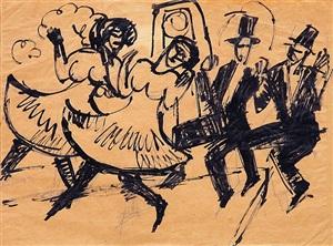 amerikanische tanzpaare by ernst ludwig kirchner