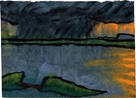 letztes abendlicht am meer by emil nolde