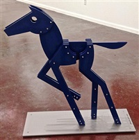 blue horse by jorge blanco
