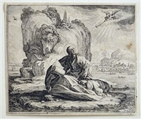 saint john on the isle of patmos by jacques callot