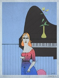 die pianistin by paul wunderlich