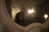 in the mirror at alberto's pallazzo, venice, italy by nan goldin