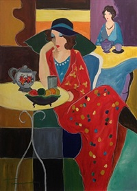 evening cafe by itzchak tarkay