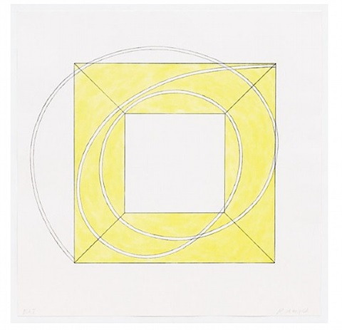 framed square with open center a by robert mangold