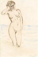 standing nude by henri lebasque
