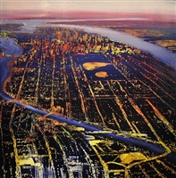 nyc, spectrum of manhattan (sold) by david allen dunlop