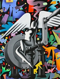 the virgin and the dynamo by mark kostabi