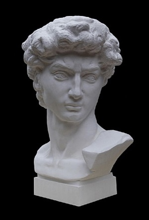 bust of david by li hongbo