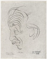 portrait of albert einstein by josef scharl