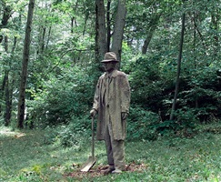 dirt man with shovel by james croak