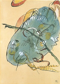entwurf zu blauer fleck (study for blue spot) by wassily kandinsky