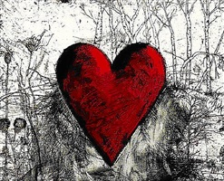 little heart in a landscape by jim dine