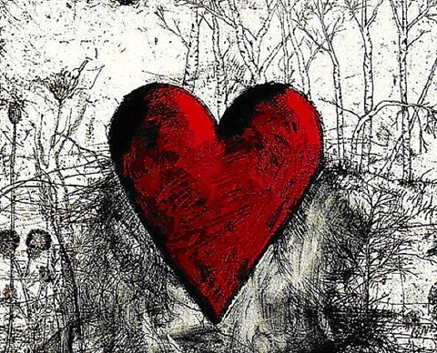 little heart in a landscape by jim dine