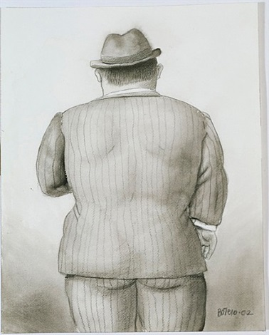 dressed in grey by fernando botero