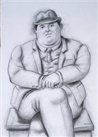 seated man by fernando botero