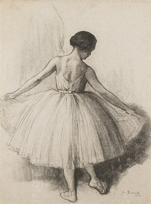 danseuse a l'exercice by auguste brouet