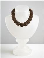 hair necklace (alabaster) by mona hatoum