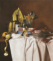 still life with grocery good and opus one by natee utarit