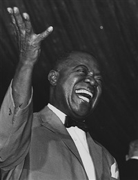 louis armstrong, roseland ballroom, new york by ron galella
