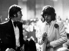 john lennon and mick jagger, los angeles by ron galella