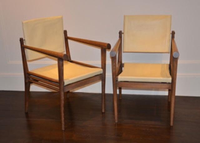 paire de fauteuils en chêne by jean-michel frank