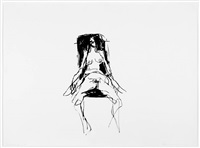 lonely chair drawing v by tracey emin