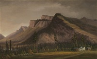 giants castle mountain, a.l. fortune farm, enderby, bc oct 6, 1882 by grafton tyler brown