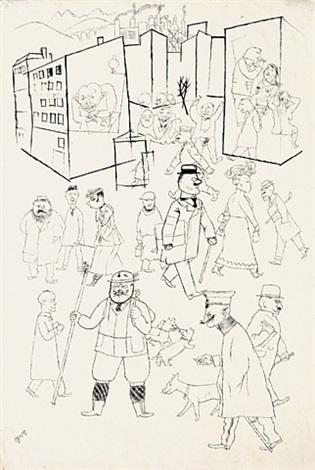 Belebte Straßenszene by George Grosz on artnet