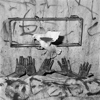 five hands (from asylum series) by roger ballen