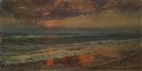seascape at dawn by frederick arthur bridgman