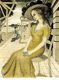 anne lost in thoughts by paul delvaux