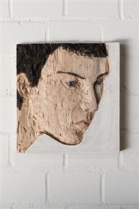 kleines kopfrelief (little relief of a head) by stephan balkenhol