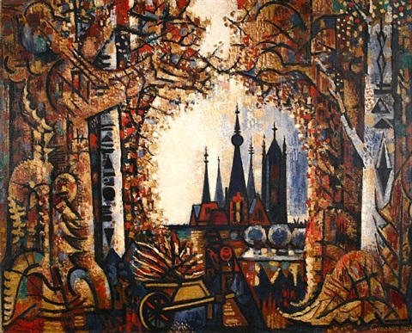 la forêt et les tours by marcel gromaire