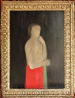 personage en rouge et vert by christian bérard