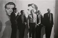 pop artists tom wesselman, roy lichtenstein, james rosenquist, andy warhol and claes oldenburg, april 21, 1964 by fred w. mcdarrah