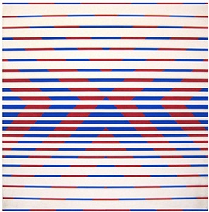 red & blue chevrons by peter sedgley