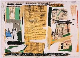jawbone of an ass—set ii by jean-michel basquiat
