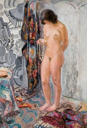 nu debout au collier by henri lebasque