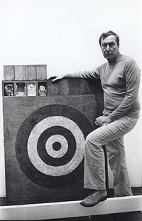 jasper johns, october 14, 1977 by fred w. mcdarrah